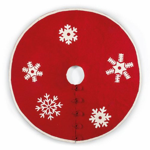 Arcadia Home Snowflakes Christmas Tree Skirt