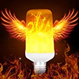 Warmoon LED Flame Light Bulbs True Fire Color E26 Atmosphere Decorative Lights for Home Hotel Bar Halloween Christmas Decorations (Fire Up)