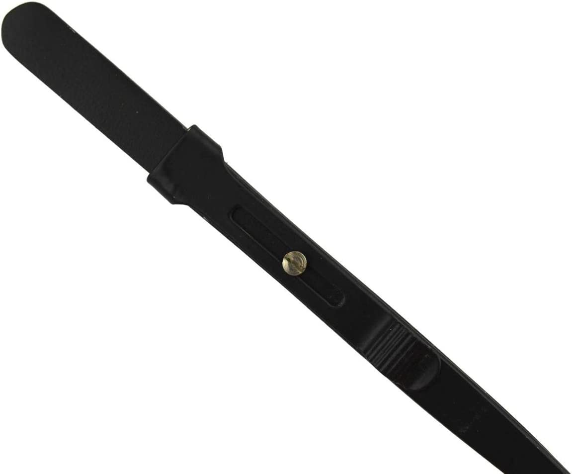 6 Black Slide-Locking Medium Tipped Gemstone Diamond Jewelry Making Repair Tweezers