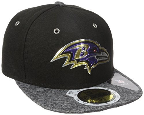 New Era NFL 2016 Draft BALTIMORE RAVENS Youth 59FIFTY Fitted (Black 59fifty Youth Fitted Cap)