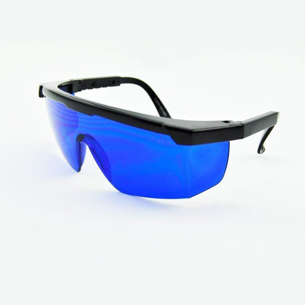 E-TING Gafas de seguridad azules 492nm-770nm Gafas de protecci/ón ocular con l/áser rojo verde amarillo