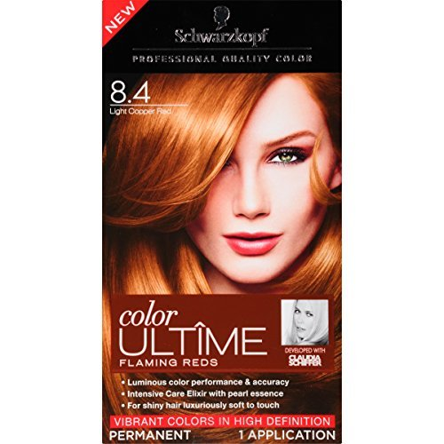 Schwarzkopf Color Ultime Flaming Reds Hair Coloring Kit, 8.4 Light Copper Red by Schwarzkopf by Schwarzkopf