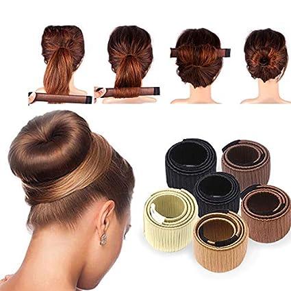Accesorios para pelo peluca sintética donuts bud cabeza banda bola francés Twist Magic DIY herramienta moño