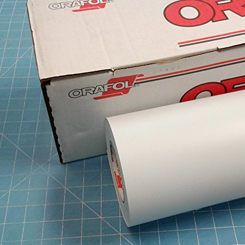 White 12'' x 10 Ft Roll of Oracal 631 Vinyl for Craft Cutters and Vinyl Sign Cutters by Coaches World by ORACAL