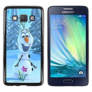 rígido protector delgado Shell Prima Delgada Casa Carcasa Funda Case Bandera Cover Armor para Samsung Galaxy A3 SM-A300 /Happy Spring Flower Winter/ STRONG