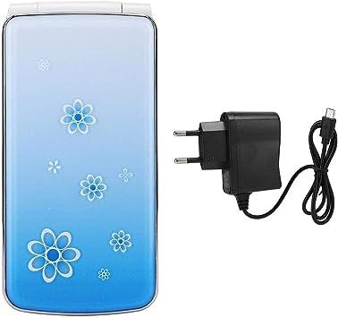 ASHATA Teléfono Celular con Teclado Giratorio, 2.4 Pulgadas TFT HD Pantalla Doble Tarjeta Doble Modo de Espera con Botón Grande Pantalla Brillante ...