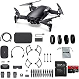 DJI Mavic Air Fly More Combo (Onyx Black) Portable Quadcopter Drone with 4-Pack Lens Filter Set, Additional Memory Card and More