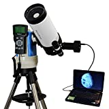 White 90mm Portable Computer Controlled Telescope with Digital USB Camera