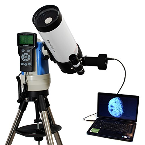 White 90Mm Portable Gps Computer Controlled Telescope With 14Mp Digital Usb Camera