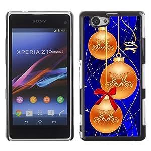YOYO Slim PC / Aluminium Case Cover Armor Shell Portection //Christmas Holiday Decorations 1191 //Sony Xperia Z1 Compact