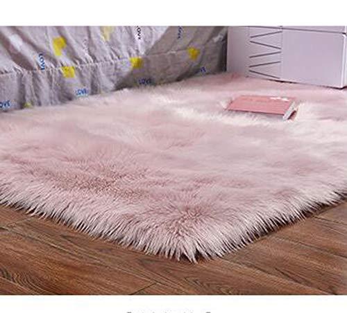 - Warm Hairy Wool Carpet Seat Pad Long Skin Fur Plain Fluffy Area Rugs Washable