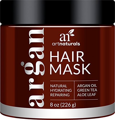 ArtNaturals-Argan-Oil-Hair-Mask-Deep-Conditioner-100-Organic-Jojoba-Aloe-Vera-and-Keratin-Repair-Dry-Damaged-or-Color-Treated-Hair-after-Shampoo-for-All-Hair-Types-Sulfate-Free-8-oz