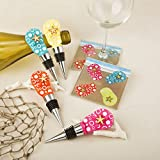 Best Fashioncraft Wine Accessories - Flip Flop Bottle Stopper and Glass Coaster (1) Review