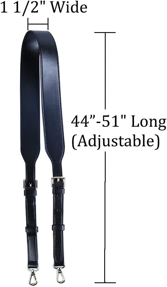 Black Silver 51 Inch Long 1 1//2 Wide Craxoo Purse Strap Adjustable Faux Leather Replacement for Shoulder Handbag or Crossbody Bag