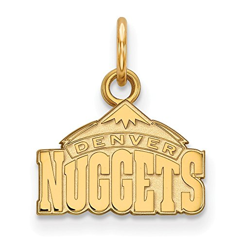 Roy Rose Jewelry 14K Yellow Gold NBA LogoArt Denver Nuggets X-small Pendant / Charm by Roy Rose Jewelry