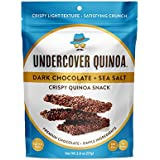 Undercover Quinoa - Dark Chocolate + Sea Salt, Crispy Quinoa Snack, Gluten-Free, 12-Count Case of 2 oz. Bags