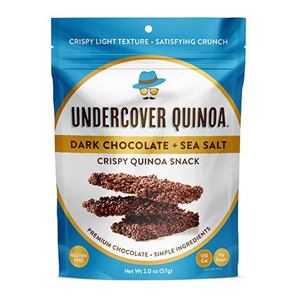 UNDERCOVER CHOCOLATE CO Dark Chocolate Sea Salt Quinoa Snack, 2 OZ by UNDERCOVER CHOCOLATE CO (Image #6)
