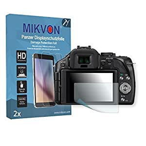 2x Mikvon Película blindada protección de pantalla Panasonic Lumix DMC-G5W Protector de Pantalla - Embalaje y accesorios