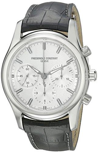 Frederique Constant Men's FC-396S6B6 Peking To Paris Silver Chronograph Dial Watch