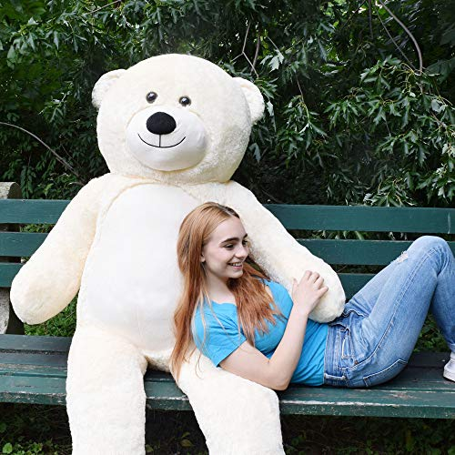 WOWMAX 6 Foot Giant Huge Life Size Teddy Bear Danny Cuddly Stuffed Plush Animals Teddy Bear Toy Doll for Birthday Christmas Ivory 72 Inches for $<!--$69.99-->