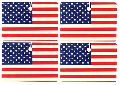 Set of Four USA Flag Air Fresheners, Horizontal, Fresh Picked Blueberry ()