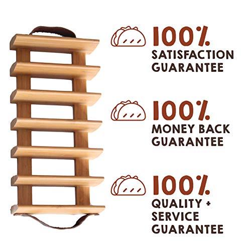 Amazon.com: Soporte de madera para bandeja de taco para ...