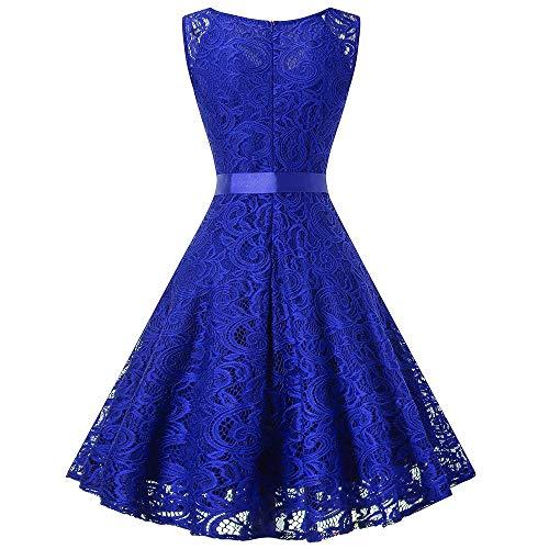 Longue D'honneur Élégantes Blue Sans color Robe Xl Home Womens Dentelle Mariage Manches Fortr Dames Pink Size Demoiselle vB8Xww