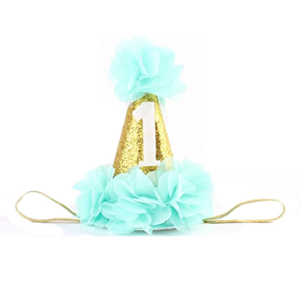 Bodhi2000® Baby Infant First Birthday Hairband Flower Crown Headwear Cone Hat