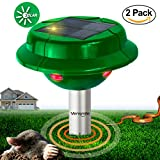 2 x VENSMILE Solar Snake Repellent Mole Repeller Outdoor Rodent Gopher Vole ...