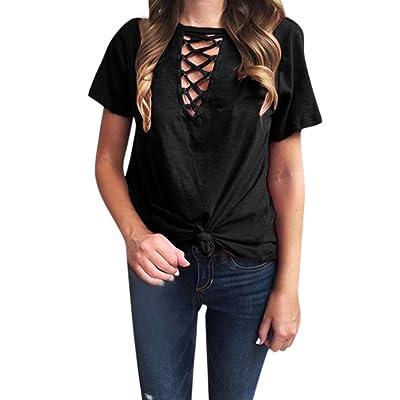 👚👚👚Mujeres Casual Bloque De Color Camisetas De Manga Corta Blusa De TúNica Liviana Suelta: para Tops Mujer Casual Tops Camisas Sueltas De Mujer Elegante Camisa Desigual: Ropa y accesorios