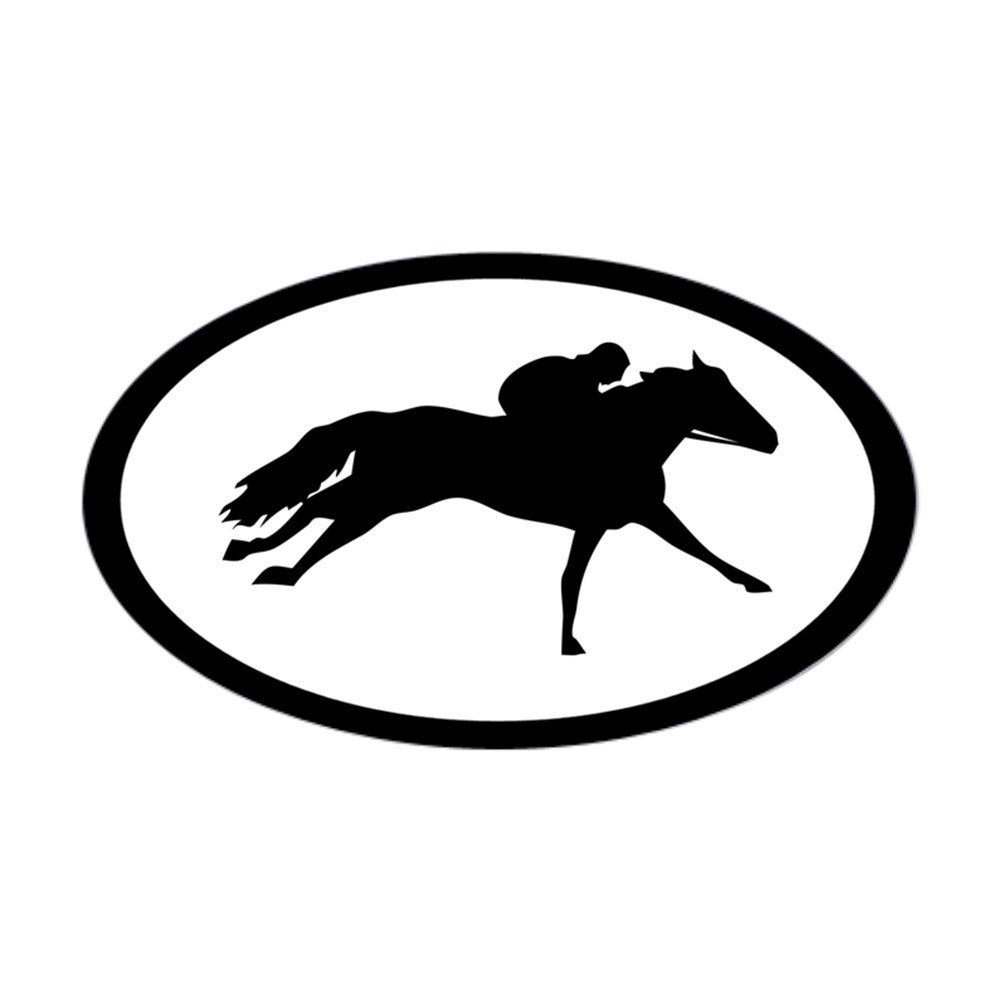 Amazon com cafepress racehorse thoroughbred oval sticker oval bumper sticker euro oval car decal home kitchen