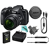 Nikon COOLPIX B700 20.2 MP 60x Opt Zoom Super Telephoto NIKKOR 4K Digital Camera Bundle Set w/ Rechargeable Battery, Charger, Euro Adapter etc (Black)