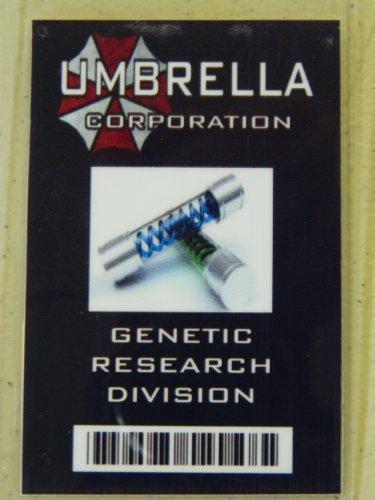 HALLOWEEN COSTUME MOVIE PROP - ID Security Badge Umbrella Corporation (Resident Evil) Genetic Research Black]()