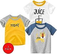 Kuner Baby Boys Girls' Cotton 3-Pack Short-Sleeve S