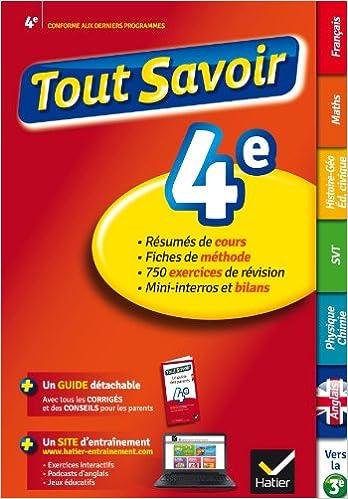 Amazon Fr Tout Savoir 4e Reviser Toutes Les Matieres