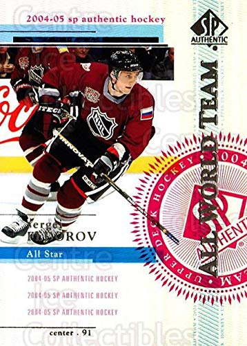 ((CI) Sergei Fedorov Hockey Card 2004-05 SP Authentic (base) 97 Sergei Fedorov)