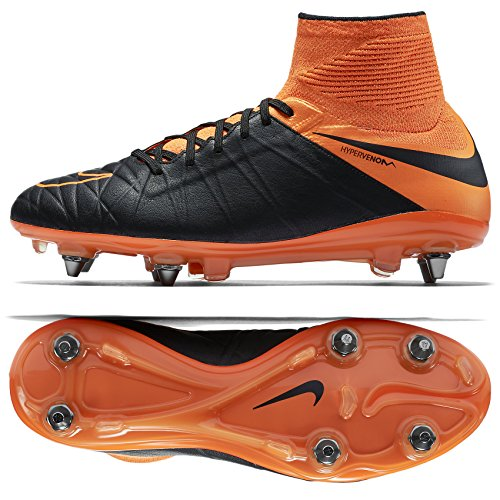a0eaaa73950 NIKE Hypervenom Phantom II Leather SG-PRO 747500-008 Black Orange Men s  Soccer Cleats (9)