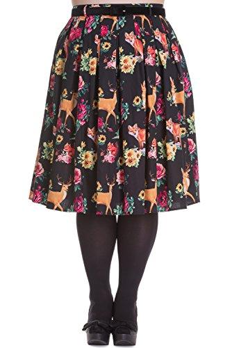 Hell-Bunny-Plus-Kawaii-Lolita-Forest-Animals-Flower-Pleated-Skirt
