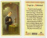 Saint/St. Gerard Holy Card Prayer for Motherhood with He Lives Cross Shaped Bookmark