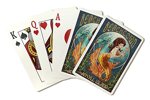 Beachtown - Jekyll Island, Georgia - Mermaid (Playing Card Deck - 52 Card Poker Size with Jokers)