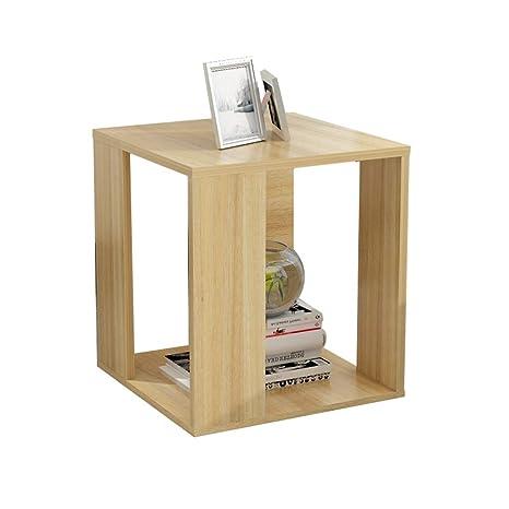 Amazon.com: Pequeña mesa de madera con extremo lateral ...