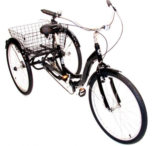 ADULT TRIKE TRICYCLE LIGHTWEIGHT ALLOY FRAME WITH CARGO BASKET RRP ...