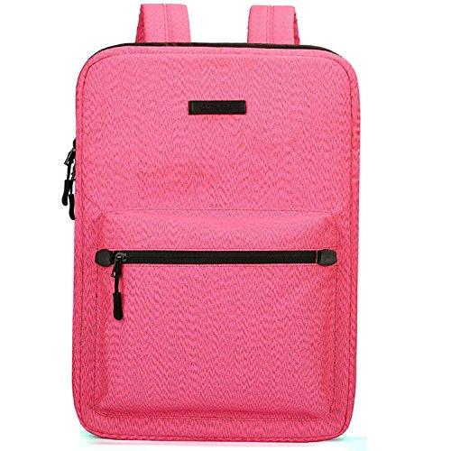 15Inch Notebook Laptop Handbag Canvas Business Shoulder Bag (Pink) - 8