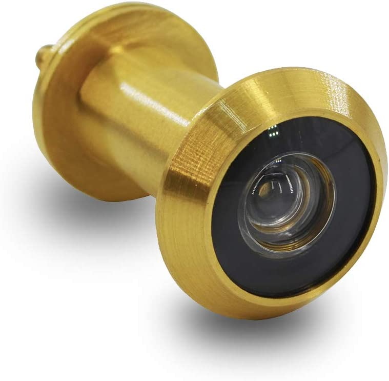 01 4 Pcs Peephole Door Viewers Heavy‑Duty Copper Safety Door Viewer Wide Angle Peephole with Back Cover for Home Office Hotel
