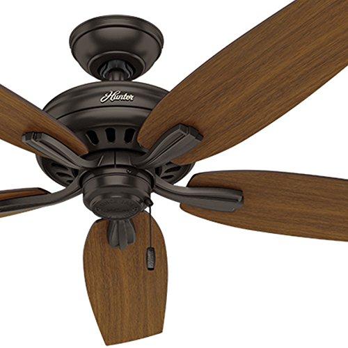 - Hunter Fan 52 inch Outdoor Ceiling Fan in Premier Bronze with 5 Roasted Walnut Reversible Blades (Renewed)