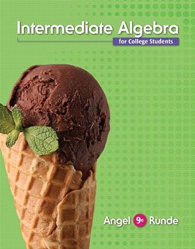 intermediate algebra for college students 9th edition allen r rh amazon com Intermediate Algebra 10th Lial Intermediate Algebra 9th Edition