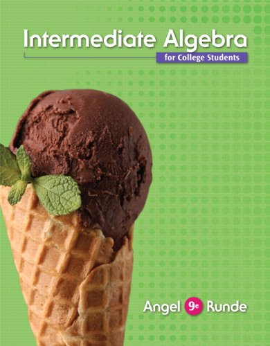 Intermediate Algebra For College Students (9th Edition)