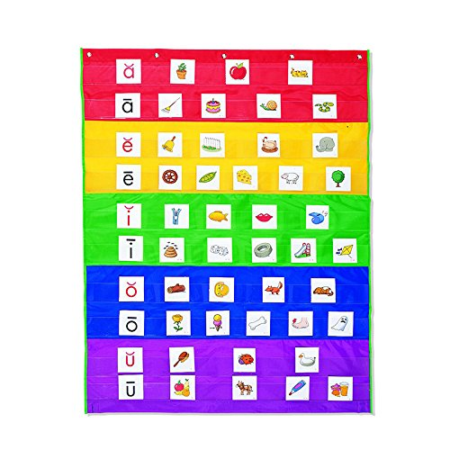 LEARNING RESOURCES RAINBOW POCKET CHART (Set of 3)