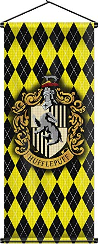(Nordic Souvenirs Harry Potter Style Banner - Hufflepuff Flag 43in x 16in Wall Scroll - Ready to Hang - Perfect Barware Man Cave Gift - Unique HP Collectible Accessories)