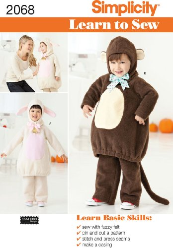 Simplicity Sewing Pattern 2068: Learn To Sew Toddler's Costumes, A (1/2-1-2-3-4)